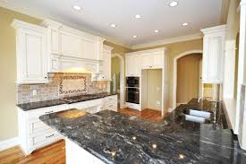 Yellow Kitchen With White Cabinets - 36 inspiring kitchens with white cabinets and dark granite pictures