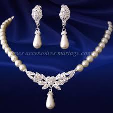 bijoux de mariage parure collier bijoux mariage mariée perle crème flora par un