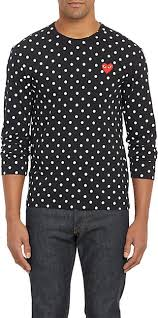 polkadot top comme des garçons play polka dot sleeve t shirt barneys new