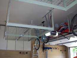 Bike Hanger Ceiling by White 2x4 Overhead Garage Ceiling Storage With Lift Ceiling Bike