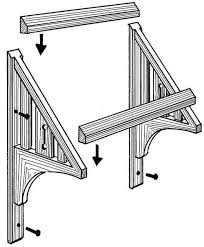 Wooden Window Awnings How To Make A Window Awning Diy Corrugated Metal Awning Shanty 2