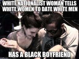 Black Man White Woman Meme - screeching harpy imgflip