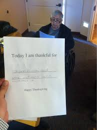 Nursing Home Meme - my year old grandpa had to fill out what hes thankful for at his