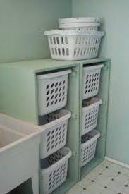 Floor To Ceiling Cabinet by A Way To Keep Laundry Organized And Off The Ground I Have Used