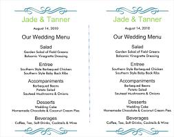 menu template wedding wedding menu template 5 free printable menu cards