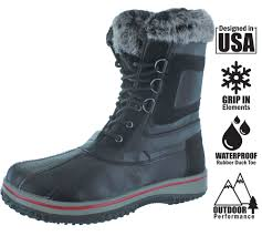 revenant men u0027s duck toe faux fur winter snow boots ebay