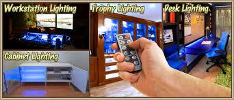 Under Desk Lighting Biltek 6 U0027 Ft Blue Home Office Desk Computer Remote Controlled Led