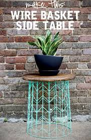 Homemade Patio Table by Best 25 Outdoor Side Table Ideas On Pinterest Easy Patio