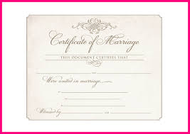6 blank marriage certificate template