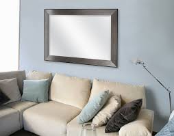 wade logan rectangle pewter beveled wall mirror u0026 reviews wayfair