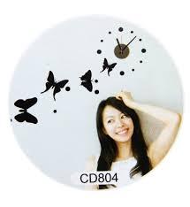 cute diy wall clocks pvc sticker home living room bedroom time art