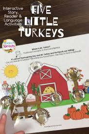 five turkeys thanksgiving speech therapy activities