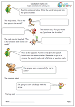 direct quotations worksheets grade 6