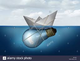 business innovative solution and creative concept as a paper boat