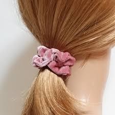hair scrunchies solid color velvet thin hair elastics a set of 8 colors scrunchies