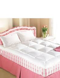 Feather Down Bed Topper Bedroom Comfortable Bed With Smooth Mattress Topper For Elegant