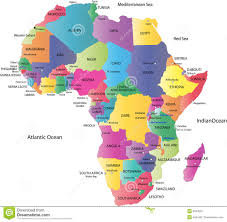 World Map Of Africa by Map Of Africa Royalty Free Stock Photography Image 6043547