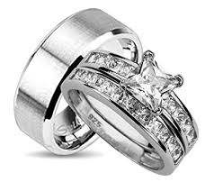wedding rings for him and his and wedding ring sets matching bands for him
