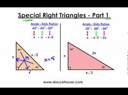 special right triangles part 1 45 45 90 and 30 60 90 youtube