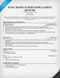 Supervisor Sample Resume by Mailroom Supervisor Resume Example For Free Resumecompanion Com