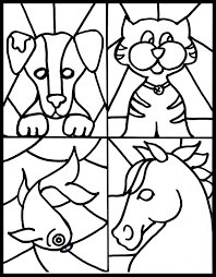 make it easy crafts kid u0027s craft stained glass free pet printable