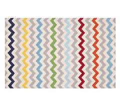 Pottery Barn Zig Zag Rug Chevron Multi Rug 5x8 Pottery Barn