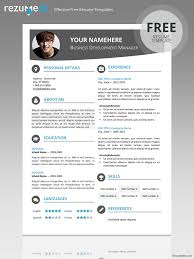 Word Resumes Templates Top Ten Resume Templates Surprising Great Resume Examples 12