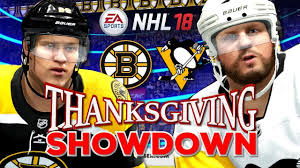 nhl thanksgiving showdown 2017 penguins vs bruins nhl 18