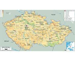 Map Of Germany And Poland by Maps Of Czech Republic Detailed Map Of Czech Republic In English