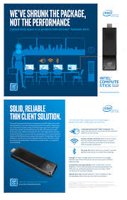 shrink the thin client solution with intel compute stick