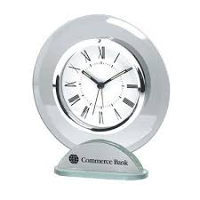 glass clocks personalized desk clocks
