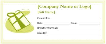 custom gift certificates custom gift certificate templates for microsoft word with gift
