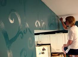 accent wall ideas for kitchen budget kitchen updates accent wall and faux painted backsplash
