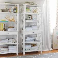 Potterybarn Bookcase White Two Drawer Bookcase