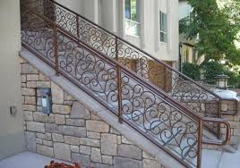 Banister Rails For Stairs Staircase Railings Decorative Wrought Iron San Diego Ca