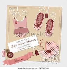 scrapbook baby shower invitation template vector stock vector