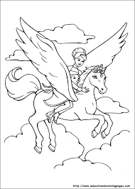 fun kids coloring pages barbie magic pegasus coloring pages educational fun kids