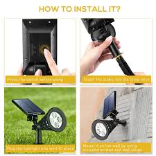 How To Set Up Landscape Lighting by Amazon Com Victsing 4 Pack Solar Spotlights The Third