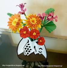 Origami 3d Flower Vase Origami Kirigami Paper Artist And Designer In Singapore April 2013