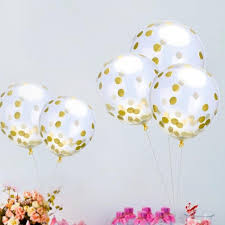 gold balloons 10 pcs party sequins balloon fashion clear sequins