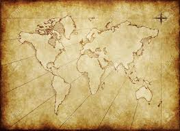 Old World Pictures by An Old World Map Drawn Onto Parchment Paper Stock Photo Picture