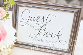 wedding guest sign in book wedding guest book sign thin style
