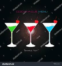 coctails menu design cocktail party invitation stock vector