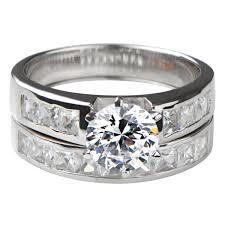 Wedding Ring Set by Zora U0027s Round Cut Cz Wedding Ring Set
