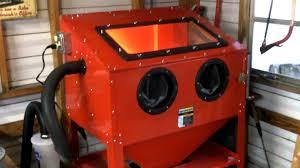 harbor freight sand blast cabinet upgrades finished my harbor freight blast cabinet mods youtube