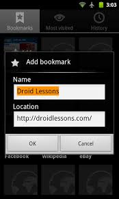 how to add to a on android how to add a bookmark on your android home screen droid lessons