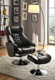 black swivel rocker glider recliner chair and ottoman set black
