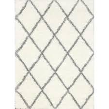 nuloom diamond shag grey 8 ft x 10 ft area rug ozsg09a 8010