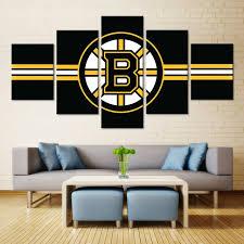 boston bruins bedroom b logo ice hockey boston bruins oil painting canvas wall art sport