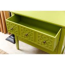 Lime Green Table L Abbyson Living Accent Table In Lime Green Md 145040 Grn
